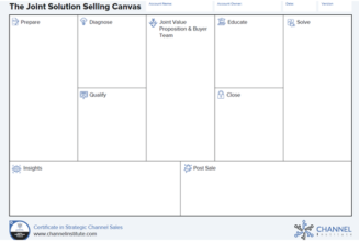 How to Leverage a Solution Selling Canvas for Channel Management Training